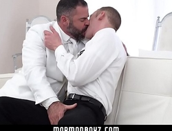 Cocky young stud fucks an older man raw