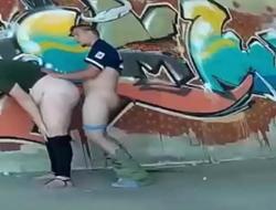 Street fucking. MILF caught with a hidden spycam by a voyeur RAF101