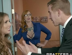 Brazzers - Big Tits at Work -  The New Girl Part 3 scene starring Lauren Phillips, Lena Paul and Dan