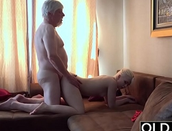 Old Young Porn Grandpa Fucks Petite Teen Spits Cum After Blowjob Massage
