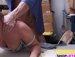 Shoplifter girl gets caught and punished