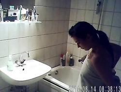 Hairy With Heart Shaped Ass Hidden Bath Video