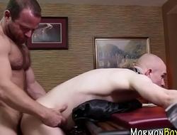Bound mormon sucking dick