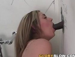 Brooklyn Pleases BBC With Her Mouth - Gloryhole