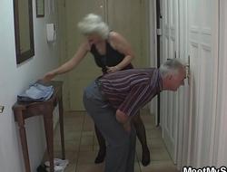 Old couple trick their son'_s blonde teenie
