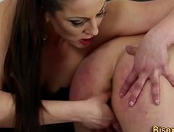 Slut has bdsm bisex fuck