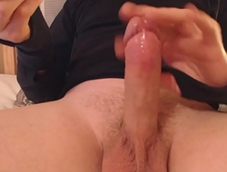 My solo 62 (Edging my lubed cock to a thick horny cumshot)