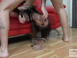 Young whore in red heels gets sodomized by the supplicant she met online