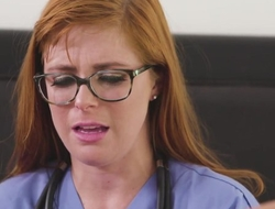 Lesbian alloy with glasses fist her patient's asshole
